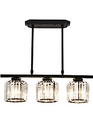 cheap -3-Light 60 cm Crystal / Creative Chandelier Metal Crystal / Novelty Painted Finishes Artistic / Chic & Modern 110-120V / 220-240V