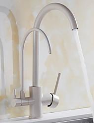 cheap -Kitchen faucet - Two Handles One Hole Standard Spout Contemporary Kitchen Taps