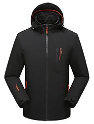 cheap -Men's Hiking Jacket Outdoor Windproof UV Resistant Rain Waterproof Jacket Top Softshell Ventilation Zip Fishing Camping / Hiking / Caving Snowsports Black / Green