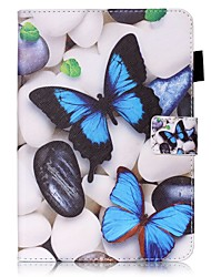cheap -Case For Apple iPad Mini 5 / iPad New Air(2019) / iPad Mini 3/2/1 Wallet / Card Holder / with Stand Full Body Cases Butterfly Hard PU Leather