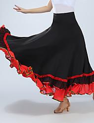 Недорогие -Бальные танцы Юбки Рюши / сборки Жен. Учебный Выступление Завышенная талия Спандекс