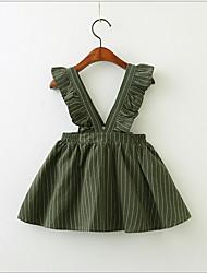cheap -Toddler Girls' Sweet Cute Striped Sleeveless Dress Green