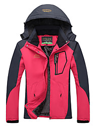 cheap -Women's Hiking Jacket Winter Outdoor Thermal / Warm Windproof UV Resistant Rain Waterproof Down Jacket Top Double Sliders Climbing Camping / Hiking / Caving Snowsports Sky Blue / Fuchsia / Green / Red