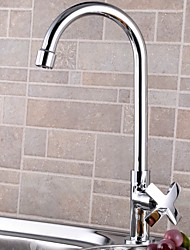 cheap -Kitchen faucet - Single Handle One Hole Standard Spout / Tall / ­High Arc Toiles Kitchen Taps / Brass