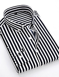 cheap -Men's Daily EU / US Size Shirt - Striped Classic Collar Black / Long Sleeve
