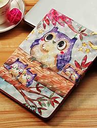 Недорогие -Кейс для Назначение SSamsung Galaxy Tab S4 10.5 (2018) / Tab A2 10.5(2018) T595 T590 / Tab E 9.6 Кошелек / Бумажник для карт / со стендом Чехол Сова Твердый Кожа PU