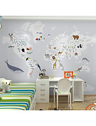 cheap -Wallpaper / Mural Canvas Wall Covering - Adhesive required Painting / Art Deco / Pattern