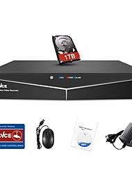 Недорогие -Sannce® 8-канальный 1080n видеонаблюдения видеонаблюдения с 1 ТБ жесткий