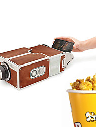 cheap -DIY 3D Projector Cardboard Mini Smartphone Projector Light Novelty Adjustable Mobile Phone Projector Portable Cinema In A Box