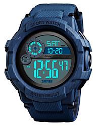 Недорогие -SKMEI Муж. Спортивные часы Армейские часы электронные часы Цифровой силиконовый Черный / Синий 50 m Будильник Календарь Секундомер Цифровой На каждый день Мода - Красный Зеленый Черный / Синий