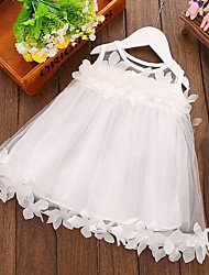 cheap -Baby Girls' Active Solid Colored Lace Sleeveless Dress White / Toddler