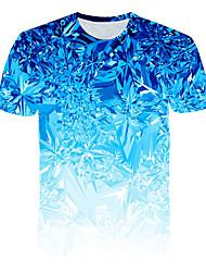 cheap -Men's T shirt 3D Print Graphic Beer Print Short Sleeve Daily Tops Basic Streetwear Blue