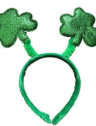 Недорогие -Питер Пен Ирландская клеверная шляпа Детские Взрослые Муж. Хэллоуин Карнавал День Святого Патрика Фестиваль / праздник Пластик Полиэстер Зеленый / Синий + зеленый / Темно-зеленый Карнавальные костюмы