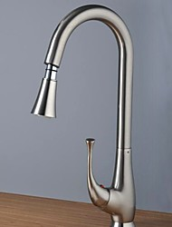 cheap -Kitchen faucet - Single Handle One Hole Pull-out / Pull-down / Tall / High Arc Other Contemporary Kitchen Taps / Brass