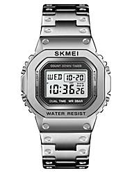 Недорогие -SKMEI Муж. Спортивные часы Наручные часы электронные часы Цифровой Нержавеющая сталь Черный / Серебристый металл / Золотистый 30 m Будильник Календарь Секундомер Цифровой На каждый день Мода -