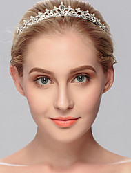 cheap -Alloy Tiaras with Pearls / Crystals 1 Piece Wedding / Special Occasion Headpiece