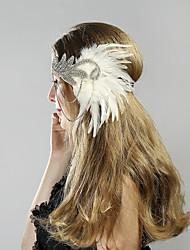 cheap -The Great Gatsby Charleston 1920s The Great Gatsby Flapper Headband Women's Costume Head Jewelry Black / White Vintage Cosplay Party Prom Festival / Headwear / Headwear