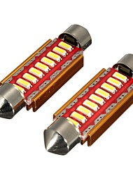cheap -Pair Canbus Error Free 9 LED Car Dome Lights Interior Bulbs Festoon Reading Number Plate Lights- 31MM