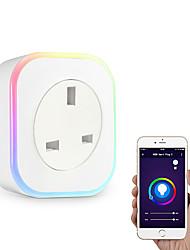 Недорогие -Розетка / Smart Plug Функция синхронизации / Диммируемая / со светодиодной подсветкой 1шт ABS + PC / 750 ° С / анти-огнестойкий Andriod 4.2 Выше / IOS8.0 Выше Amazon Alexa Echo / Google Assistant