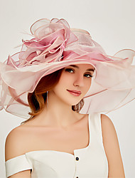 cheap -Organza Kentucky Derby Hat / Fascinators / Headdress with Tiered 1 Piece Party / Evening / Business / Ceremony / Wedding / Tea Party Headpiece