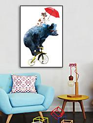 cheap -Framed Canvas Framed Set - Animals Cartoon Plastic Illustration Wall Art