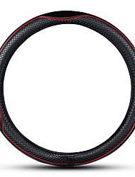 cheap -38cm Diameter Luxury PU Leather Car Steering Wheel Cover Car Accessories