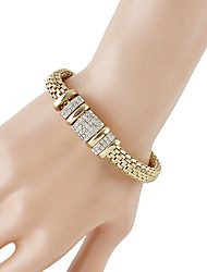 cheap -Women's Chain Bracelet Thick Chain Baht Chain Trendy Fashion Rhinestone Bracelet Jewelry Gold For Daily Date