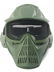 cheap -Tactical Airsoft Pro Full Face Mask with Safety Metal Goggles Protection