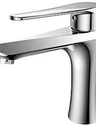 cheap -Bathroom Sink Faucet - Contemporary Chrome Ceramic Valve Bath Shower Mixer Taps