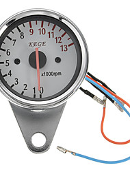 cheap -Stainless Steel 12V Universal Motorcycle LED Tachometer Speedometer Tacho Gauge