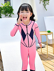 cheap -MEIYIER Girls' Rash Guard Dive Skin Suit Elastane Diving Suit Quick Dry Full Body 2-Piece Front Zip - Swimming Diving Water Sports Patchwork Summer / Kid's