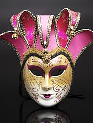 cheap -Venetian Mask Half Mask Halloween Mask Inspired by Cosplay Venetian Black Brown Halloween Halloween Carnival Masquerade Adults' Women's Female