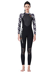 cheap -Dive&Sail Women's Full Wetsuit 1.5mm SCR Neoprene Diving Suit Thermal / Warm Quick Dry Stretchy Long Sleeve Back Zip - Diving Water Sports Solid Colored Stripes Summer / Micro-elastic