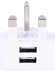 Недорогие -Портативное зарядное устройство / Беспроводное зарядное устройство Зарядное устройство USB Стандарт Великобритании Нормальная 2 USB порта 2 A DC 5V для