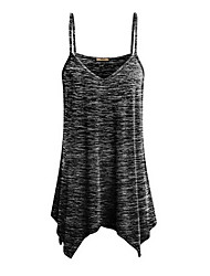 cheap -2019 New Arrival Tanks & Camisoles Women's Tank Top - Solid Colored Fashion / Strappy V Neck  Red XXXL / Spring / Summer / Fall Débardeur Femme