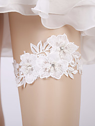 cheap -Lace Bridal Wedding Garter With Pearls / Floral Garters Wedding / Party