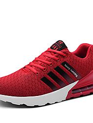 cheap -Men's Comfort Shoes Leather / Mesh Fall / Spring & Summer Casual / Vintage Athletic Shoes Running Shoes / Fitness & Cross Training Shoes Breathable Color Block Red / Green / White / Non-slipping