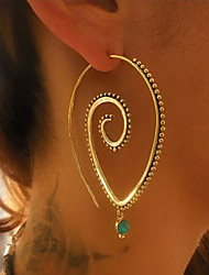 cheap -Women's Hoop Earrings Geometrical Fashion Earrings Jewelry Gold / Silver For Daily Date 1 Pair