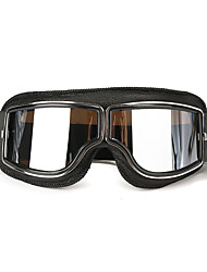 cheap -Helmet Leather Goggles Anti-UV Protective Glasses Eyewear Motorcycle Bike Scooter