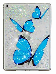 cheap -Case For Apple iPad Air / iPad (2018) / iPad Air 2 Flowing Liquid / Pattern Back Cover Butterfly / Glitter Shine Hard PC / iPad (2017)