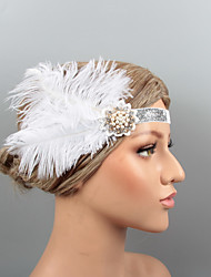 cheap -Feathers Headbands / Headdress / Headpiece with Rhinestone / Crystal / Feather 1 pc Wedding / Party / Evening Headpiece