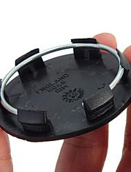 Недорогие -50 мм черные автомобильные колеса по центру заглушки колпачка крышки нет логотипа