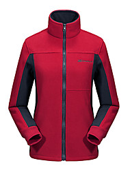 cheap -Women's Hiking Fleece Jacket Winter Outdoor Thermal / Warm UV Resistant Breathable Sweat-wicking Winter Fleece Jacket Top Fleece Ventilation Zip Casual Camping Fuchsia / Orange / Green / Red / Blue
