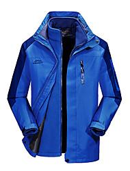 cheap -Men's Hiking Jacket Outdoor Thermal / Warm Windproof UV Resistant Rain Waterproof 3-in-1 Jacket Winter Jacket Top Double Sliders Climbing Camping / Hiking / Caving Snowsports Sky Blue / Orange