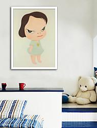 cheap -Framed Canvas Framed Set - People Cartoon Plastic Photo Wall Art