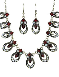 cheap -Women's Red Drop Earrings Charm Necklace Vintage Style Fashion Earrings Jewelry Red For Ceremony Date 1 set