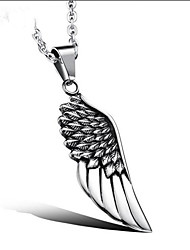 cheap -Men's Pendant Necklace Classic Angel Wings Fashion Steel Stainless Silver 51 cm Necklace Jewelry 1pc For Gift Daily