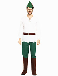 cheap -Robin Hood Masquerade Adults' Men's Halloween Carnival St Patricks Day Festival / Holiday Polyster Green Carnival Costumes Shamrock Novelty