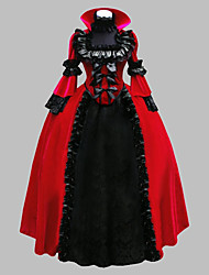 cheap -Little Red Riding Hood Dress Cosplay Costume Masquerade Women's Victorian Renaissance 18th Century Christmas Halloween Carnival Festival / Holiday Satin Red Carnival Costumes Plus Size Customized