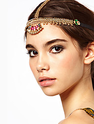 cheap -American Indian Headpiece Adults' Bohemian Style Women's Golden Acrylic / Artificial Gemstones / Alloy Party Cosplay Accessories Halloween / Carnival / Masquerade Costumes / Female